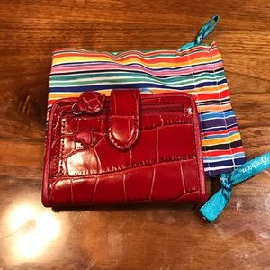 Brighton Red Leather Wallet